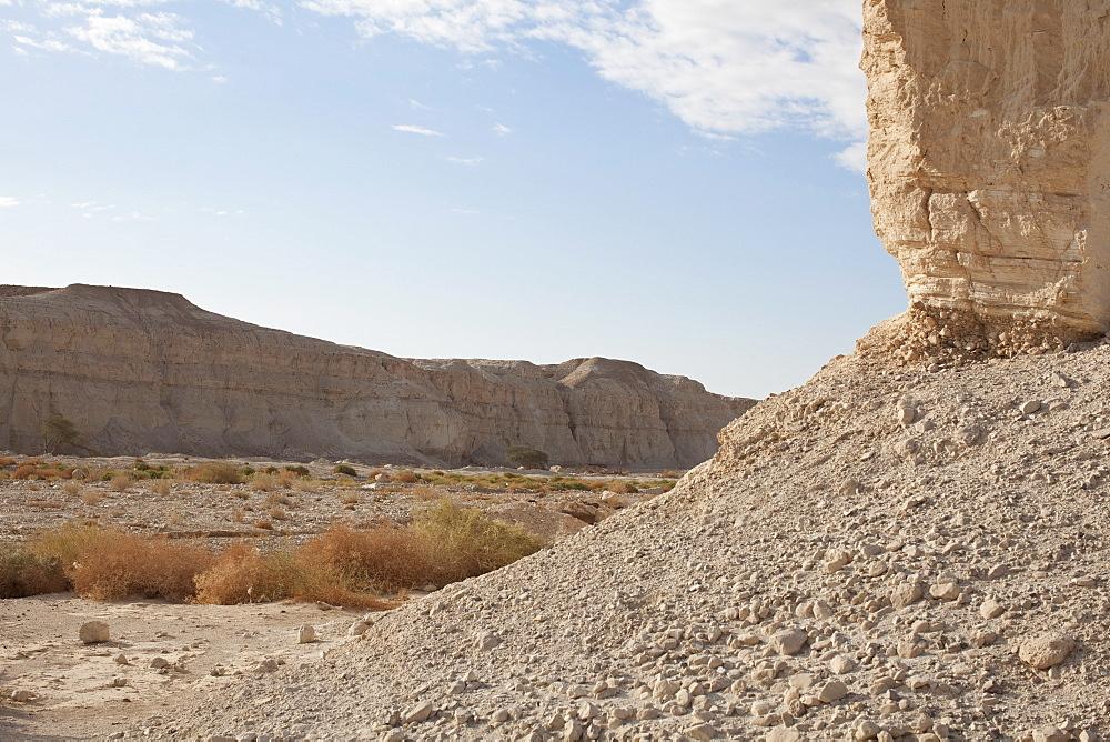 Israel, Dead Sea, desert landscape