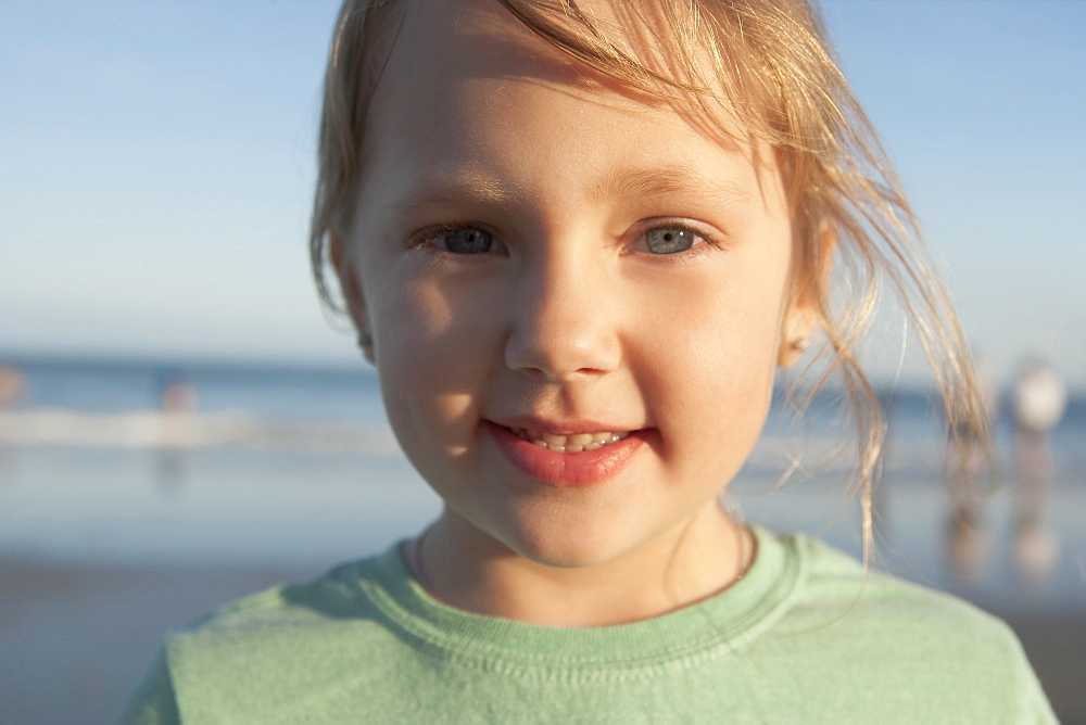 A young girl at the beach