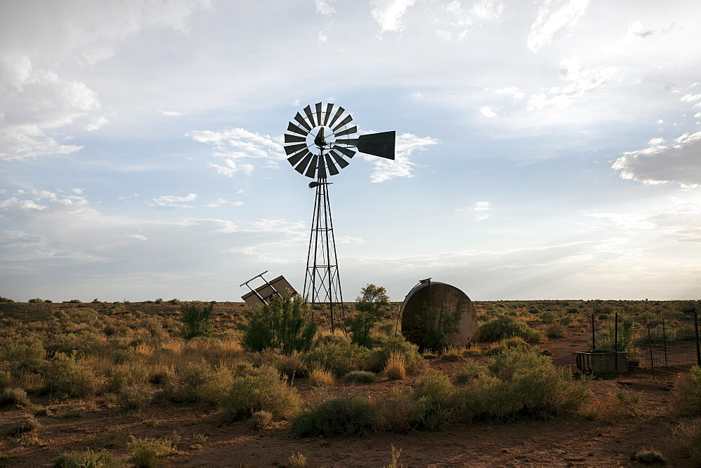 Old farm with windmill