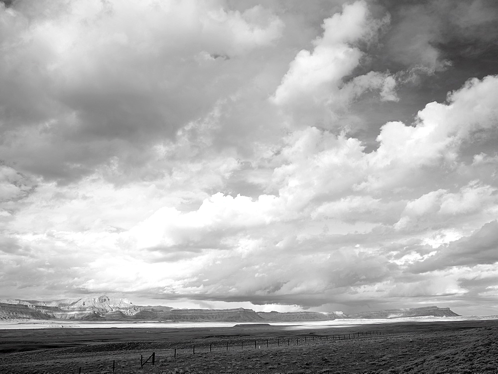 USA, Utah, Clouds over desert landscape