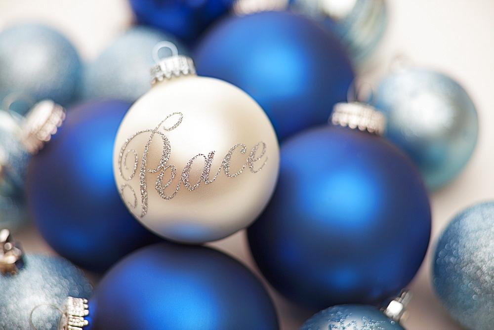 Studio Shot of Christmas ornaments