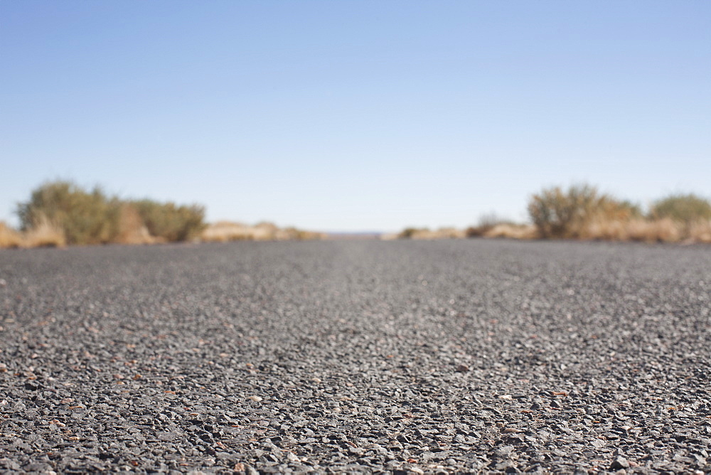 USA, Arizona, Winslow, Country road, surface level