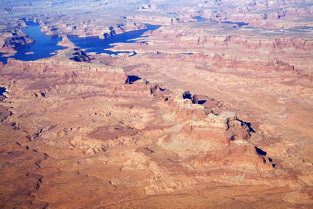 High angle view of Arizona desert