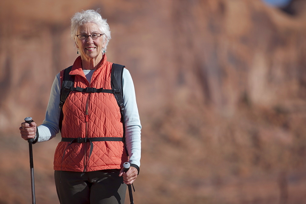 Elderly hiker