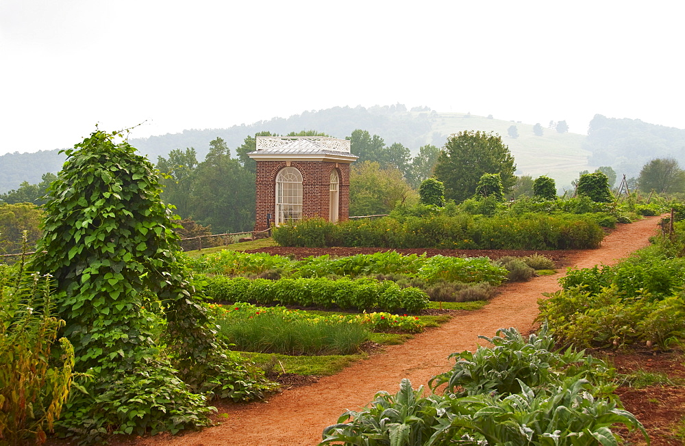 Garden at Thomas Jefferson's house