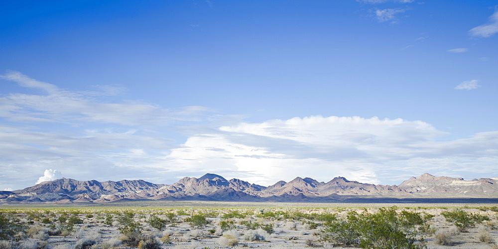 View of desert along Route 66, USA, California, Mojave Desert