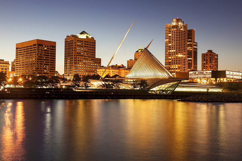 Skyline at dusk, Milwaukee, Wisconsin