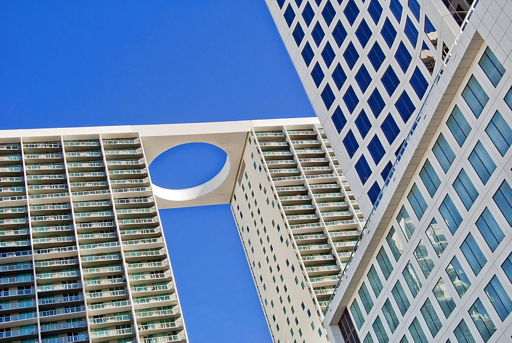 Low angle view of 500 brickell towers, Miami, Florida