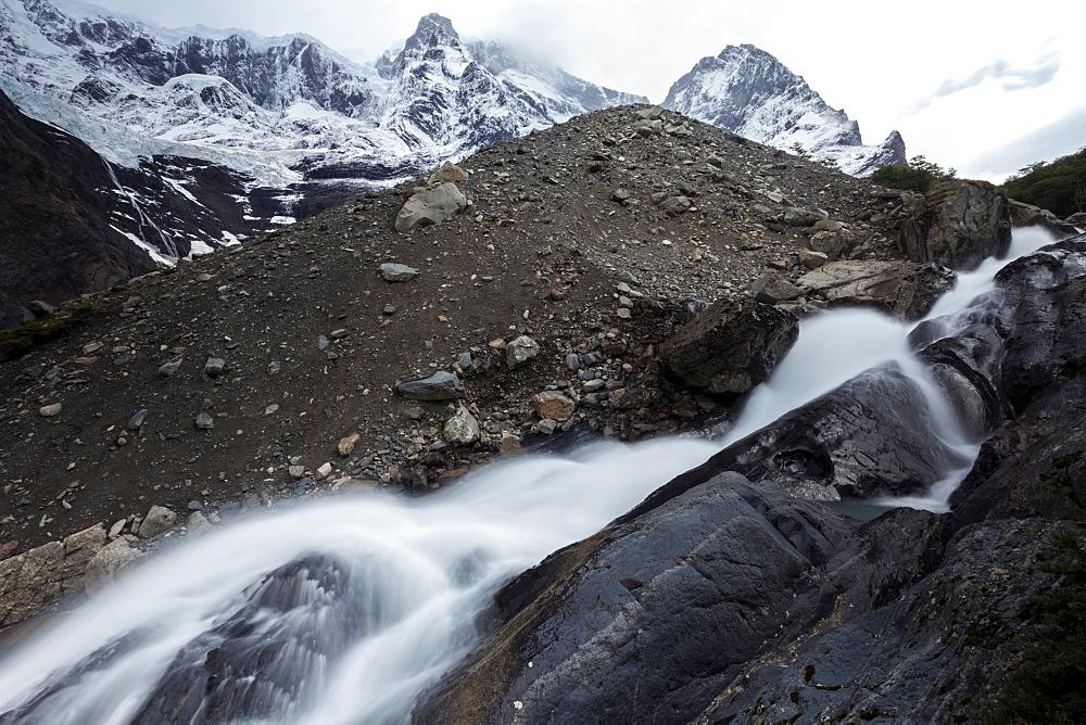 Mountain view of Cordillera del Paine, Chile