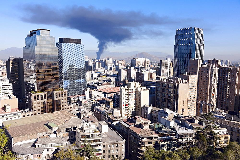 Downtown cityscape, Chile