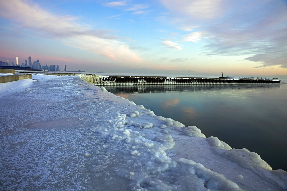 Winter in Chicago - Lake Michigan