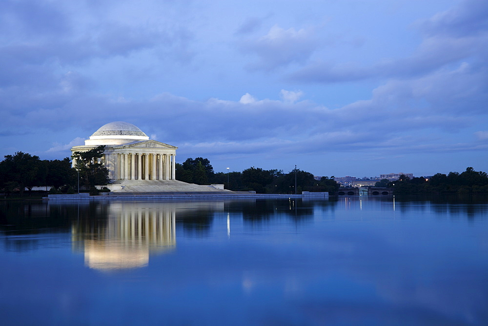 Thomas Jefferson Memorial at dusk, Washington, DC