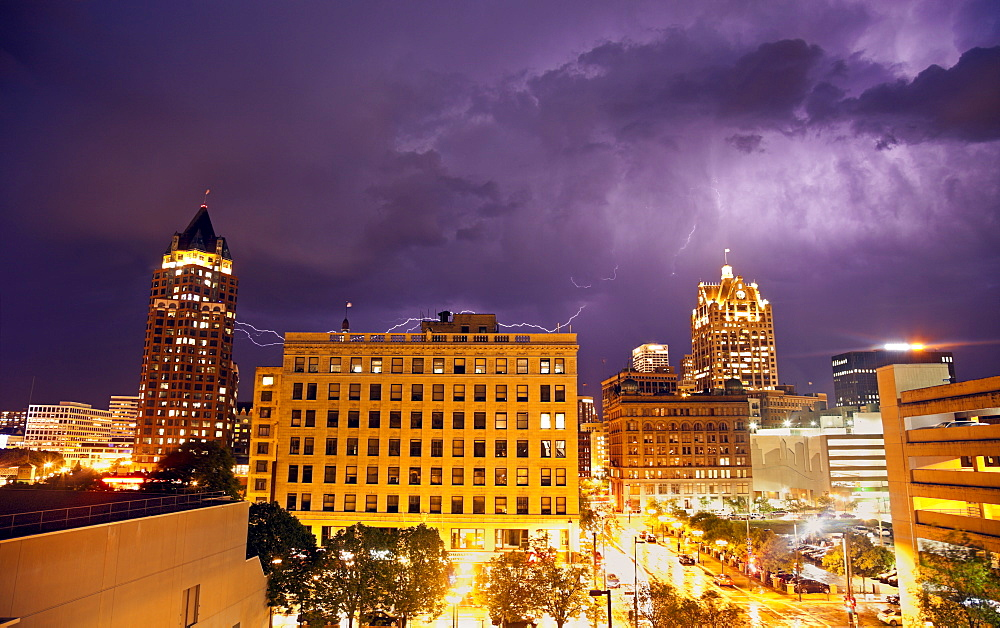 Thunderstorm in Milwaukee, Wisconsin