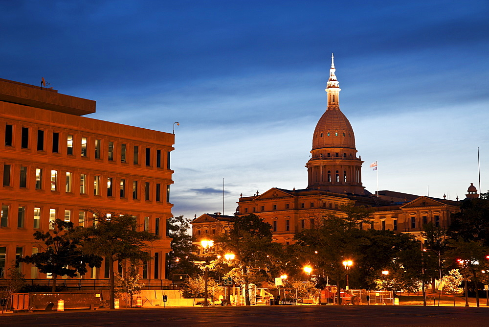 Lansing, Michigan - State Capitol Building at sunrise