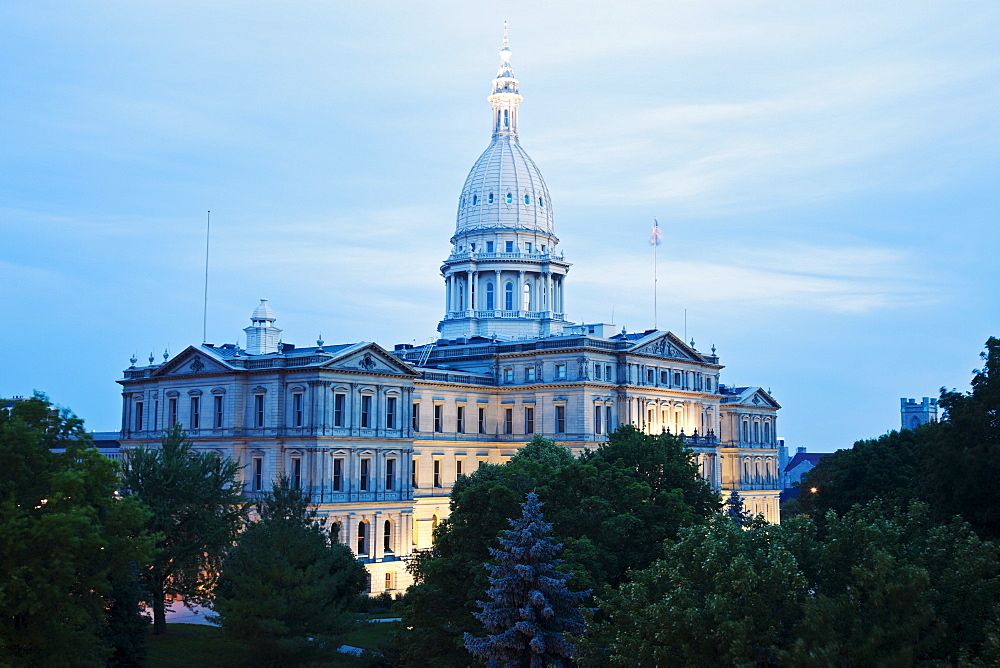 State Capitol Building, USA, Michigan, Lansing