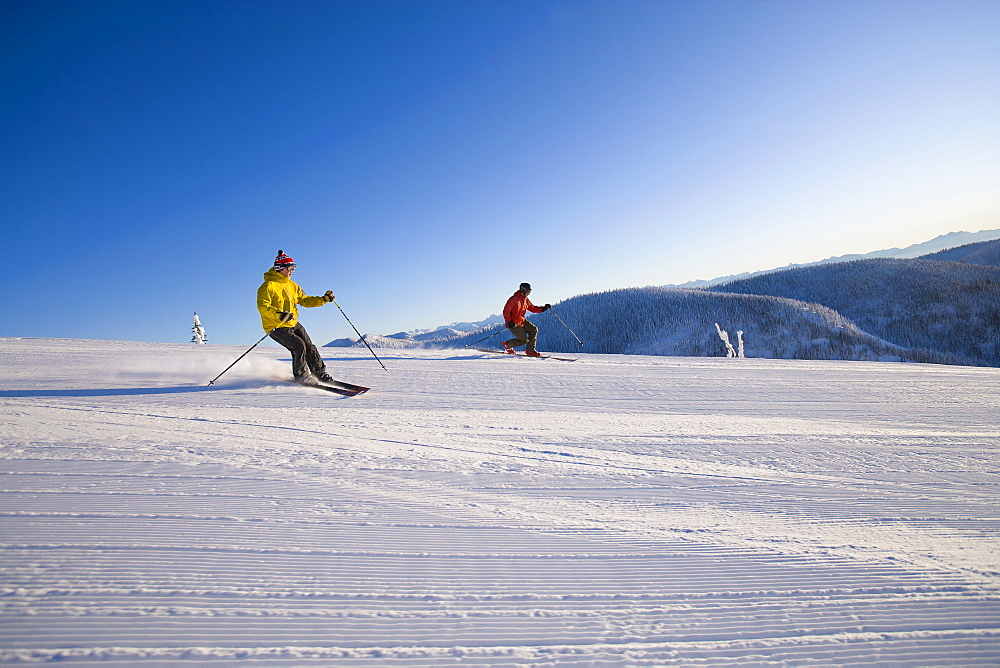 Two man on ski slope