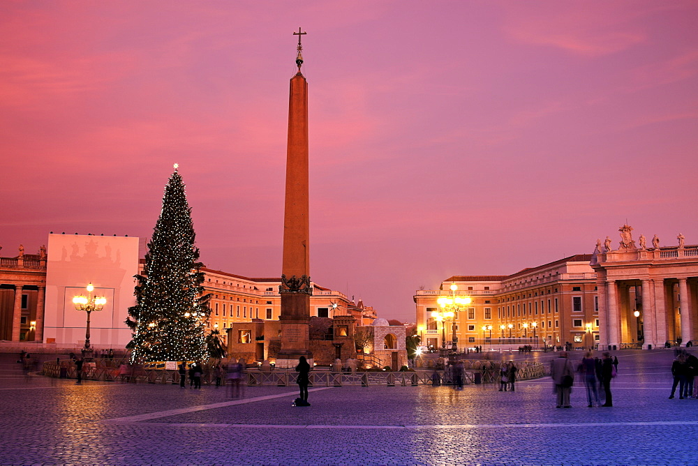 Saint Peter's Square in Christmas time