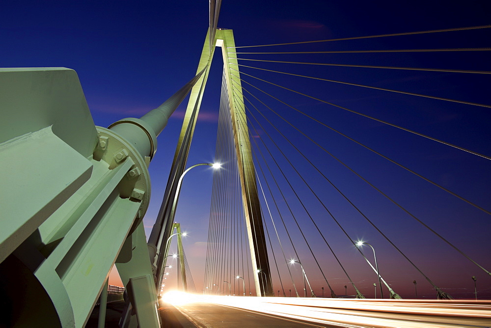 USA, South Carolina, Charleston, Arthur Ravenel Jr. Bridge