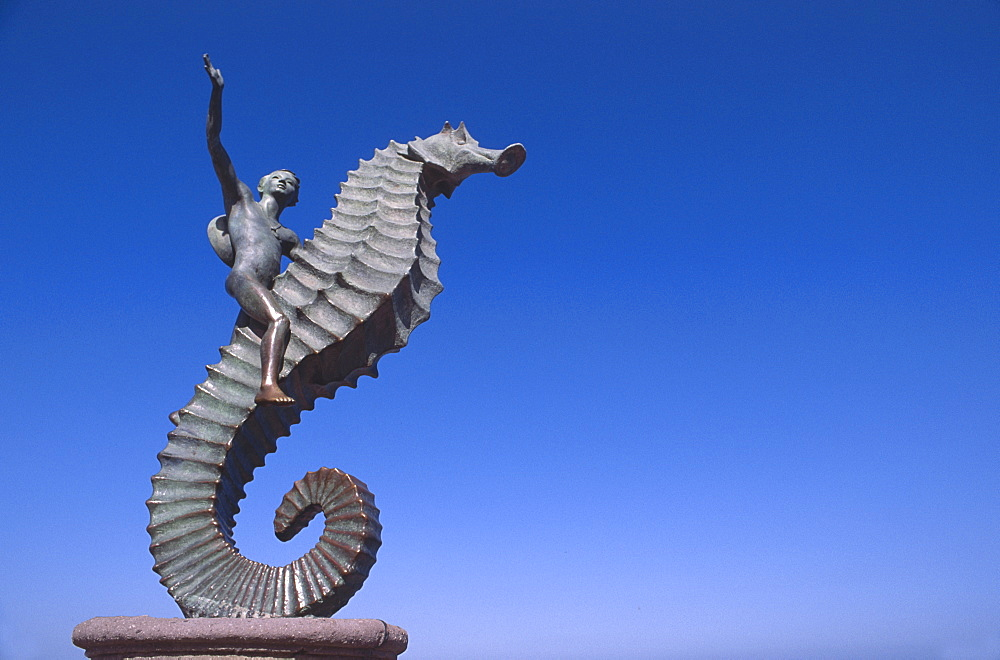 Mexico, Jalisco, Puerto Vallarta, The Seahorse sculpture