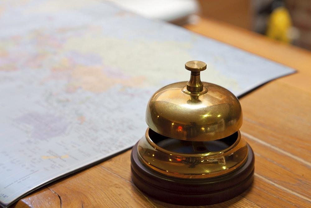 Service bell on desk