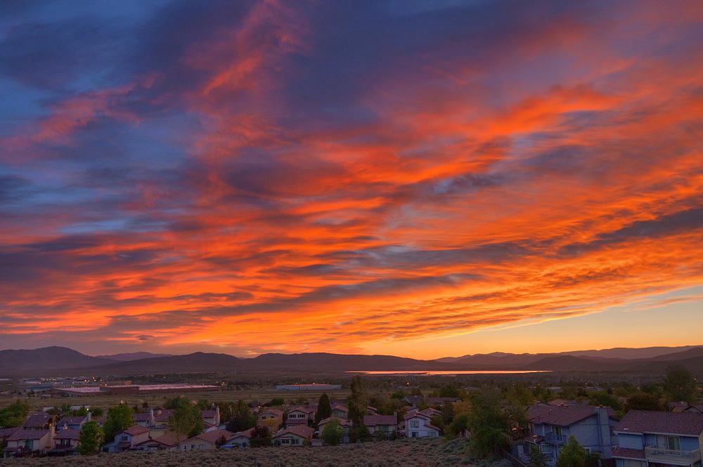 USA, Nevada, Reno, Scenic sunrise