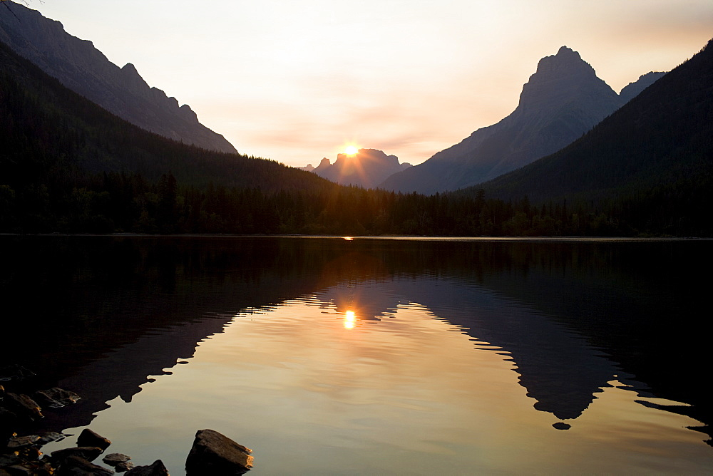 USA, Montana, Glacier National Park, Kintla Lake