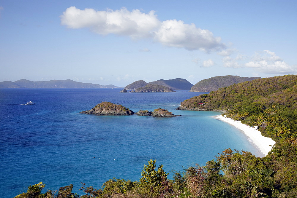 United States Virgin Islands, St. John, View of sea bay, United States Virgin Islands, St. John