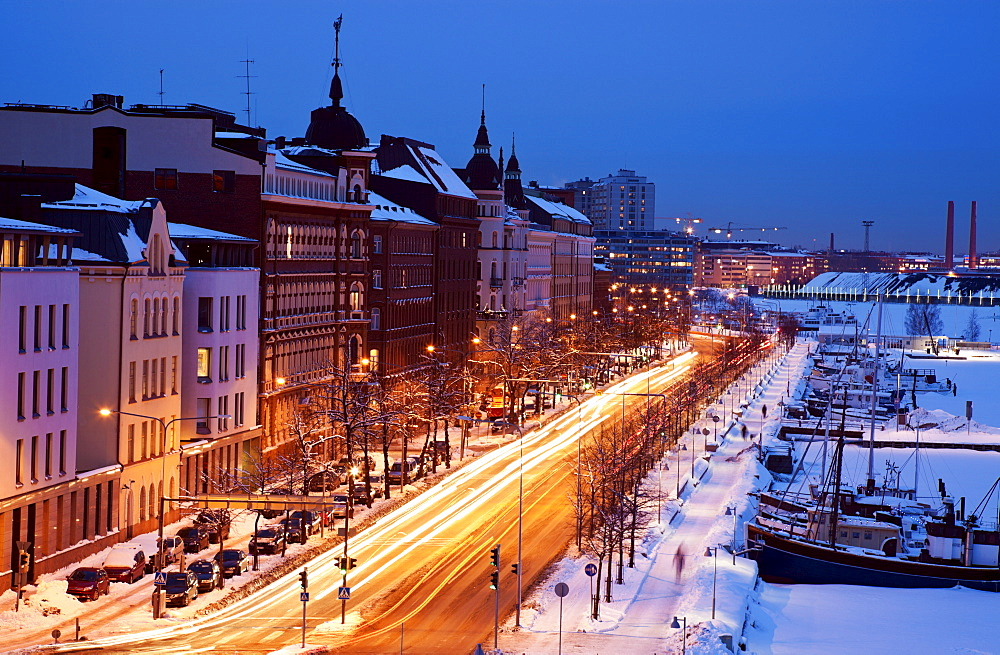 Finland, Helsinki, Pohjoisesplanadi Street