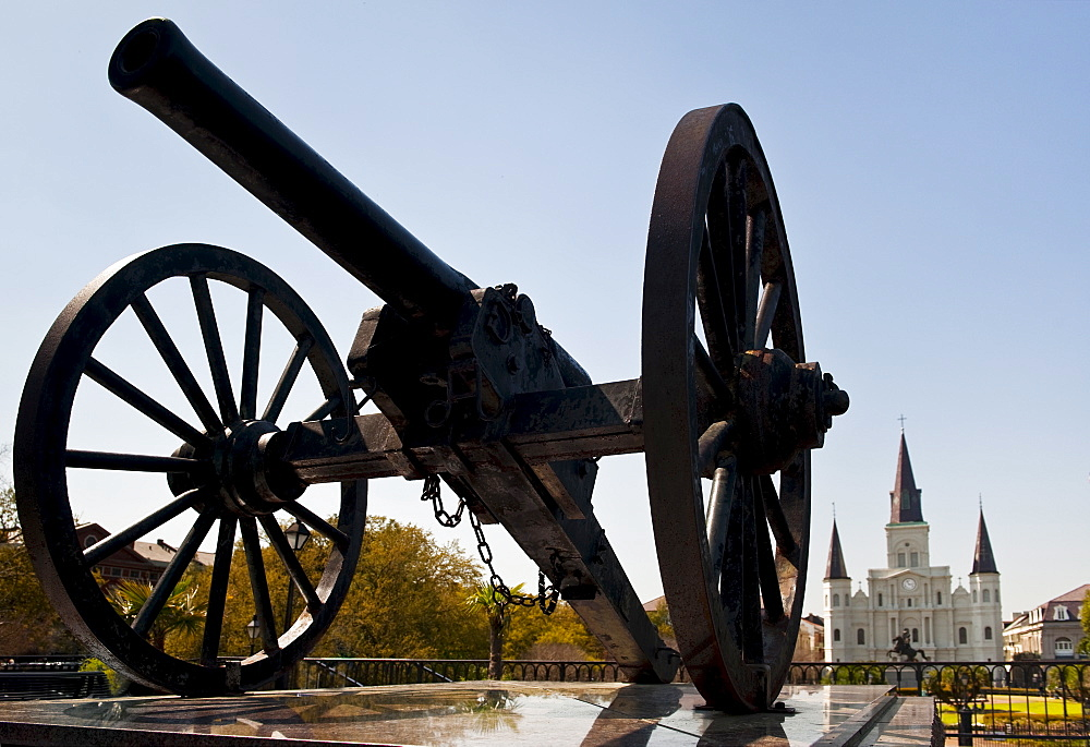 Cannon at Jackson square in New Orleans