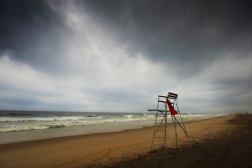 Lifeguard chair on beach