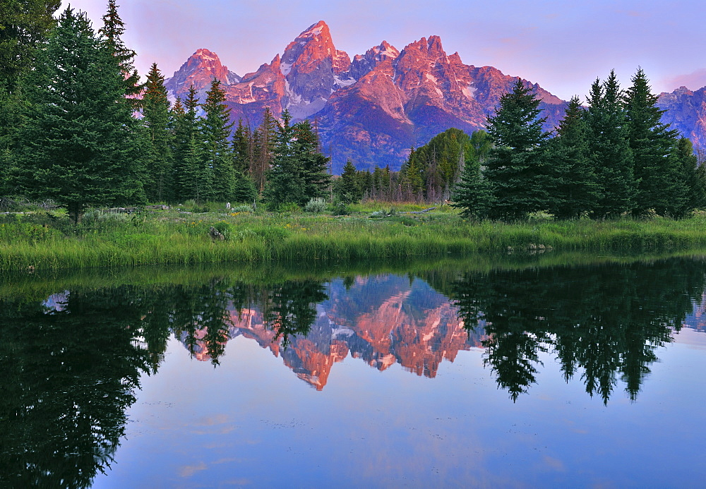 Scenic landscape of mountains