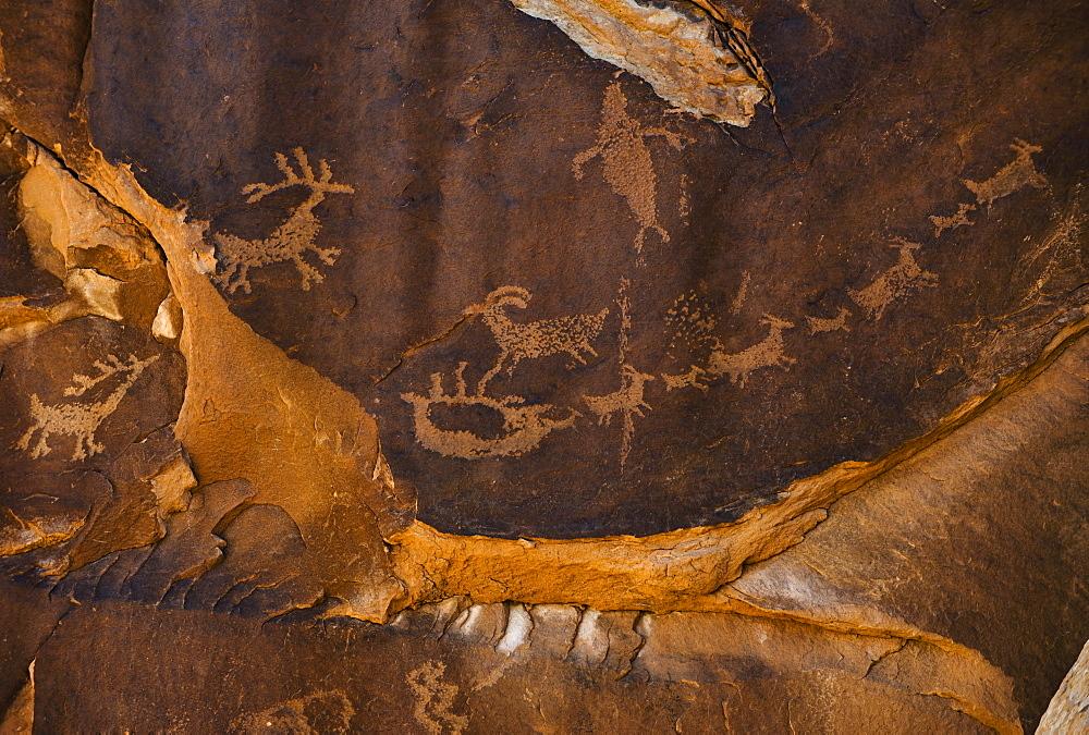 """Santa's Sleigh"" petroglyph, Utah"