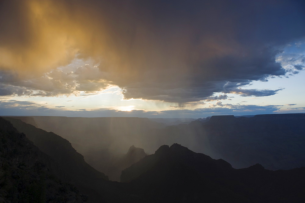Sunset view of Grand Canyon National Park