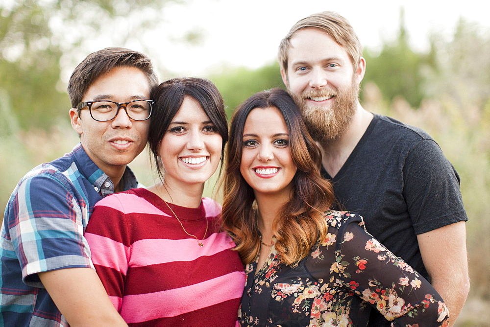 Portrait of group of friends, Salt Lake City, Utah