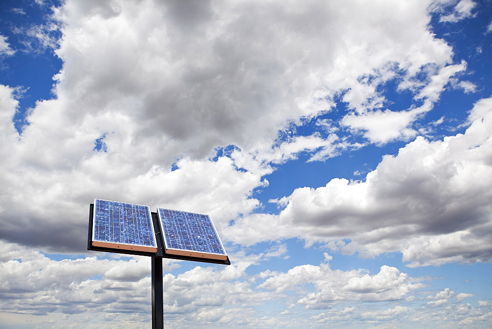low angle view of solar panel