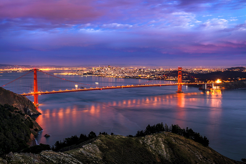View at Golden Gate Bridge, USA, California, San Francisco