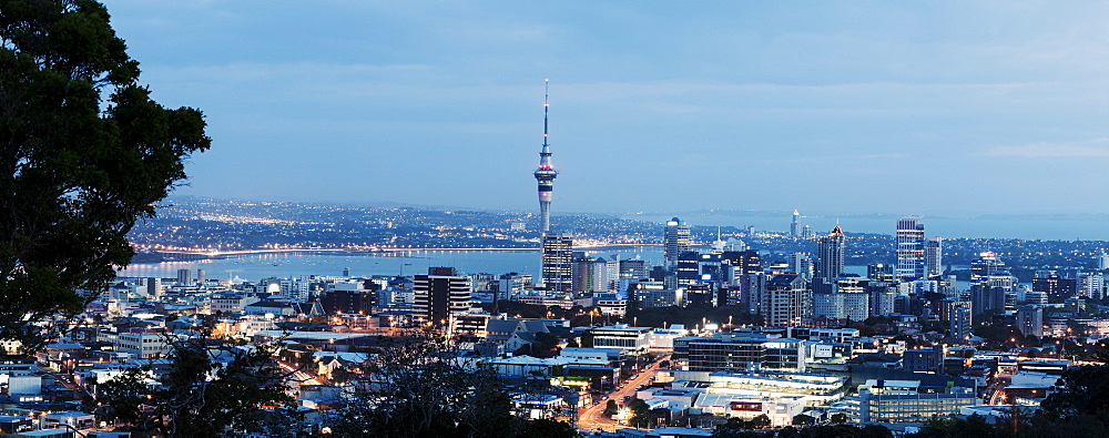 View of city and harbor, Auckland, New Zealand