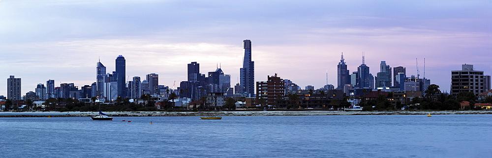 Skyline during sunset, Australia,Victoria, Melbourne