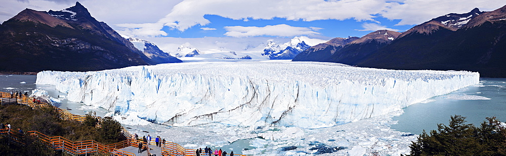 Panoramic view of glacier, Chile