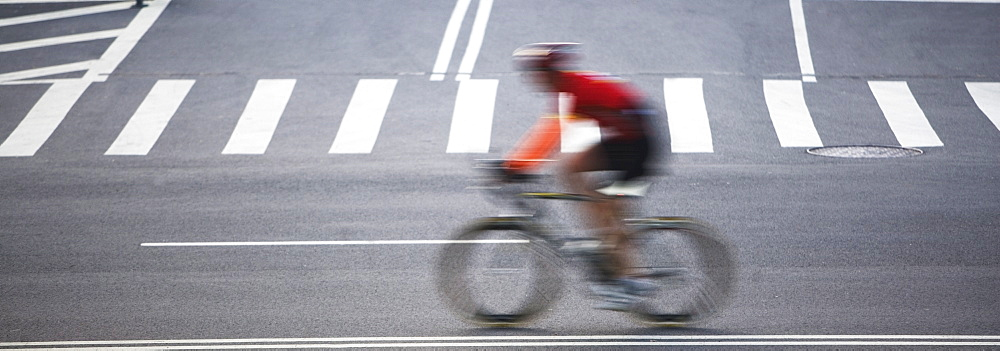 Cyclist on street