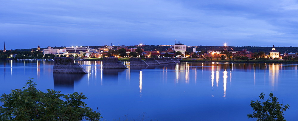 View of city across river, New Brunswick, Canada
