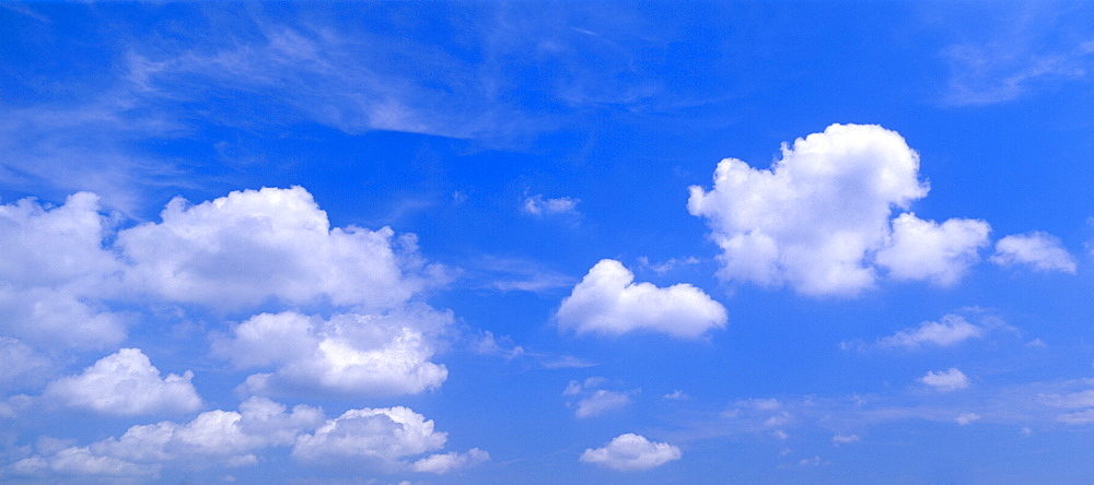 Clouds against a blue sky