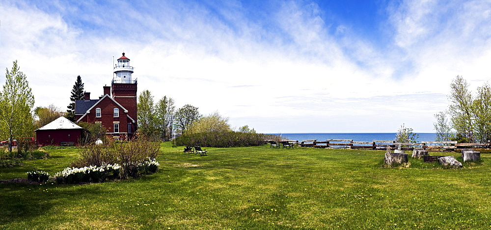 USA, Michigan, Big Bay Point lighthouse