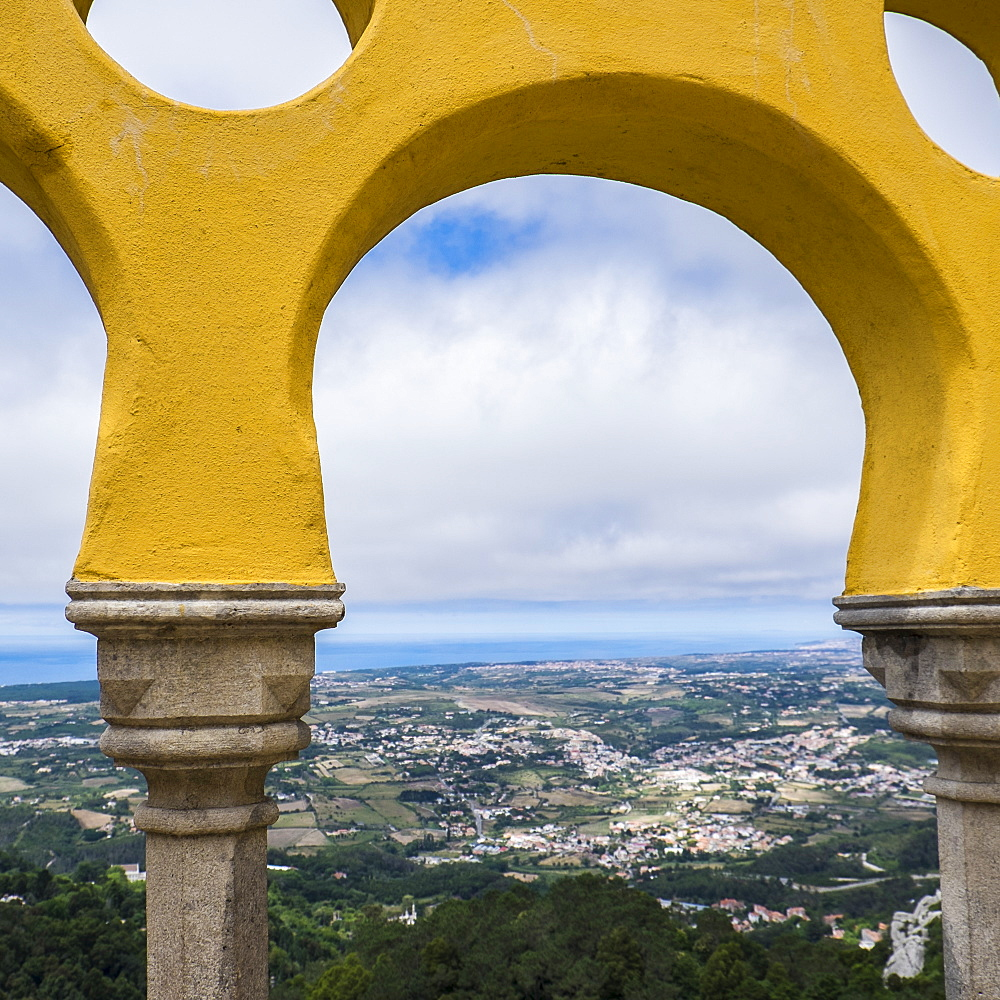 Scenic view from Palace of Sintra, Sintra, Portugal