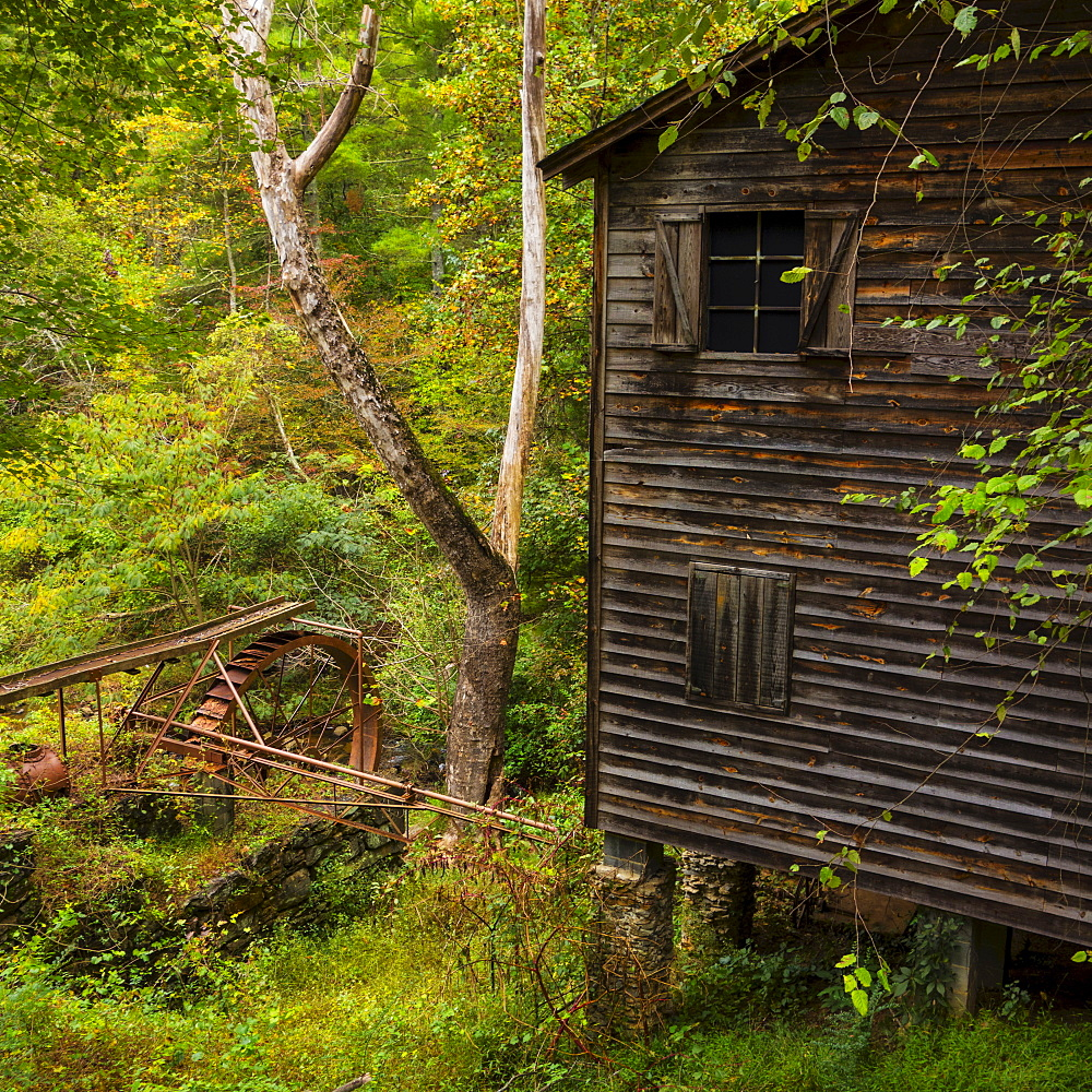 Meytre Grist Mill, Water mill, Meytre Grist Mill, McGalliard Falls, Valdese, North Carolina