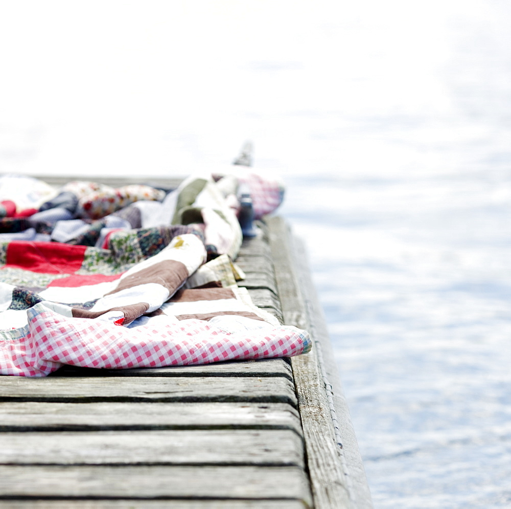 Blanket on dock