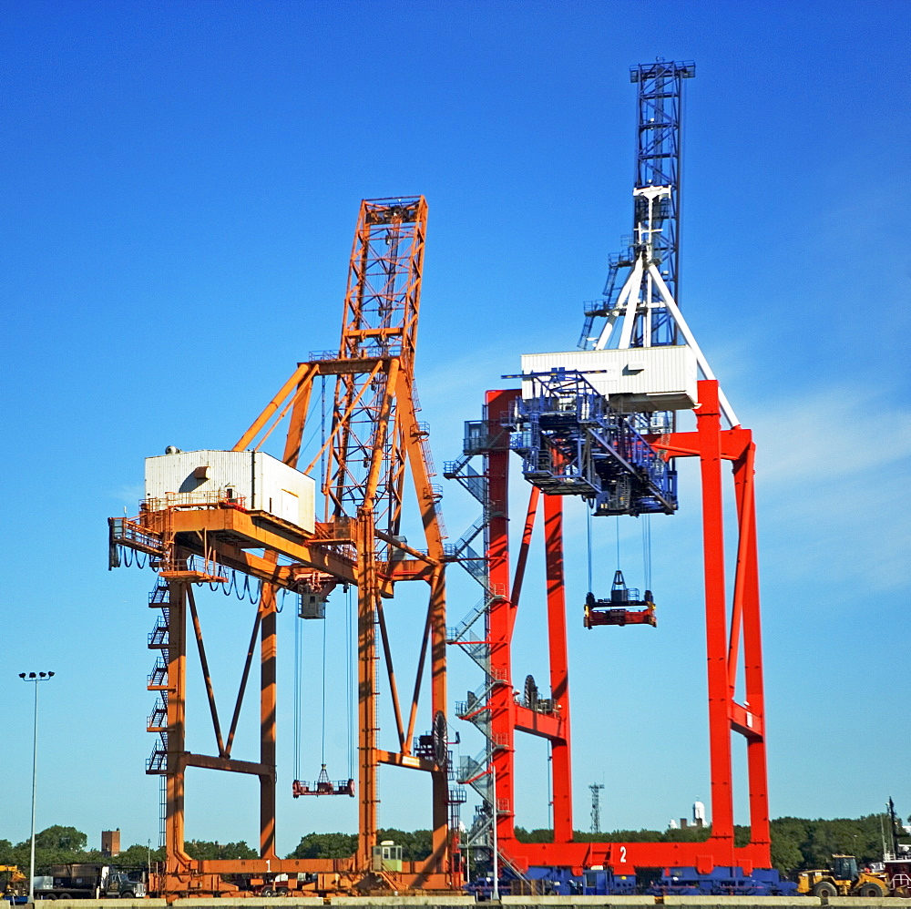 Industrial dock equipment and cranes