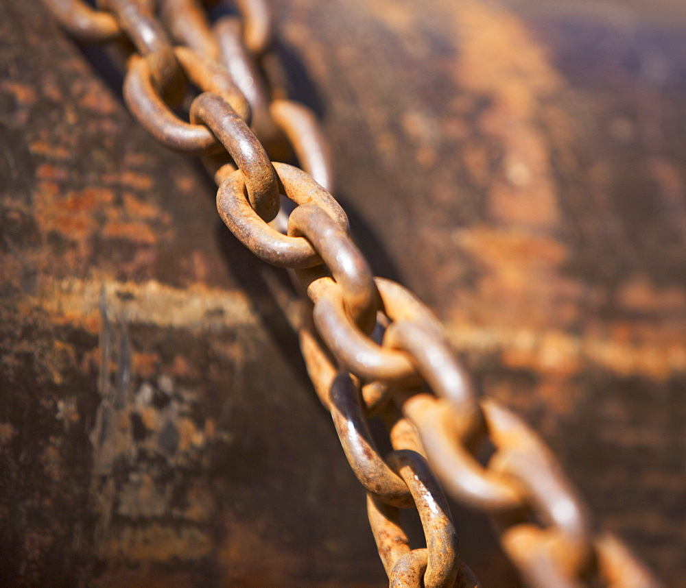 Close up of industrial chains