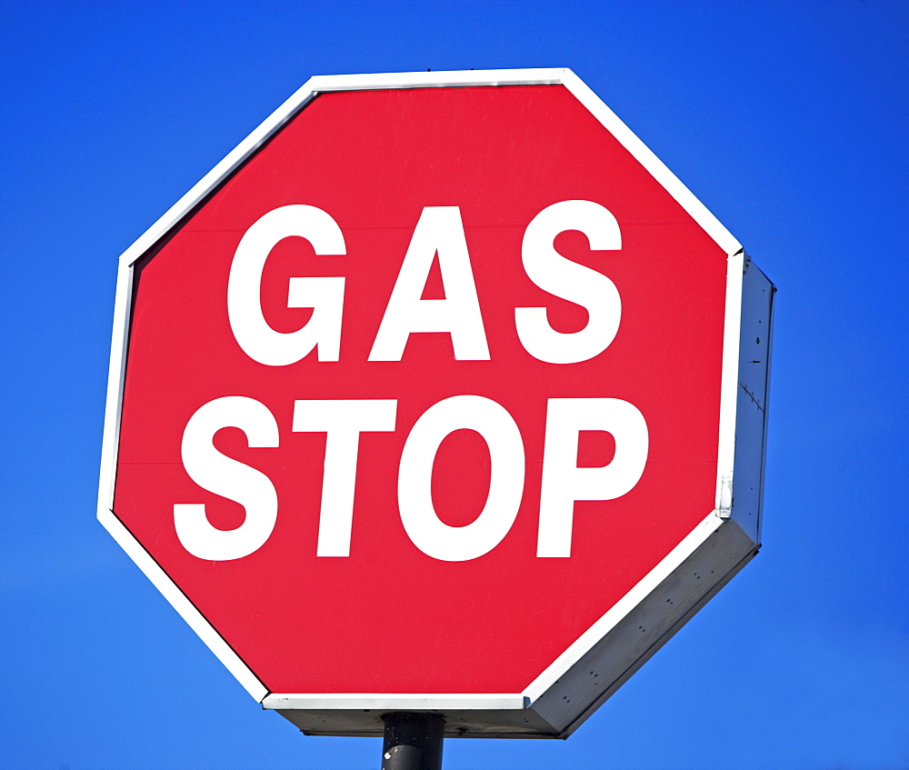 gas stop sign