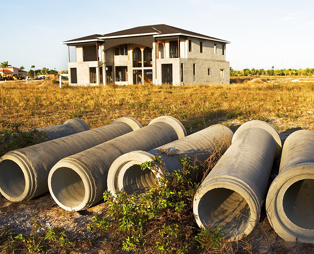 home construction, sewer pipes